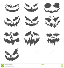Scary Faces For Pumpkins Template by Halloween Set Of Scary Pumpkin Faces Stock Vector Image 78747563