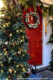 Martha Stewart Christmas Trees Tree Lit For A Porch Home Depot