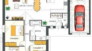 plan maison en l plain pied 3 chambres plan maison une chambre charming plan de maison plain pied 5