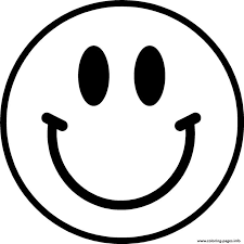 Coloring Page Of A Happy Face 2048477