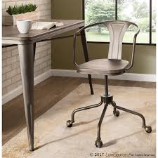 The Gray Barn Quiet Reed Industrial Metal/Wood Task Chair