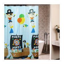 best top kids pirate shower curtain