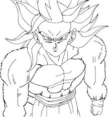 Coloriage De Goku Super Sayen 4