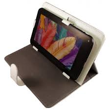 housse universelle tablette tactile 9 pouces support chic blanc