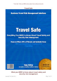 Travel Safe What You NEED To Know About Safety And Security