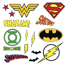 Ebay Wall Decoration Stickers by Dc Comics Superhero Logos 16 Wall Decal Superman Batman Room Decor