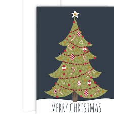 Delightful Tree Christmas Card Holiday Card Christmas