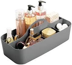 mdesign badezimmer korb mit griff als kosmetik organizer küchen aufbewahrungsbox oder handtuchhalter kleine bad box aus robustem kunststoff