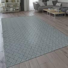 teppich wohnzimmer esszimmer küche flecht web muster modern grau