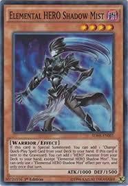 amazon com yu gi oh elemental hero shadow mist sdhs en001