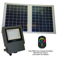 solar goes green solar grey color led changing outdoor flood light