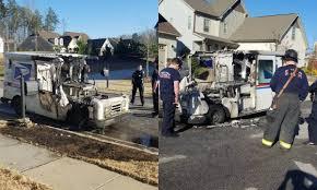 100 Postal Truck Fire Truck Catches Fire In Steele Creek