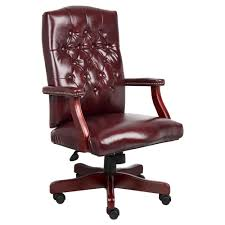 Classic Executive Oxblood Vinyl Chair With Mahogany Finish ... Contemporary Office Chair On Casters With Armrests Halter Hal038 Executive Bonded Leather Office Chair Home And French Style Upholstered Deluxe Mid Back Steel Base Covered Mahogany Finish Wood Padded Arms Topflight Woodleather Black High White Vector Illustration Of Comfortable Wooden Amazoncom Bankers Desk Arm Rests 33 Best Types Of Chairs To Consider For Your Cool Max Fniture Recling