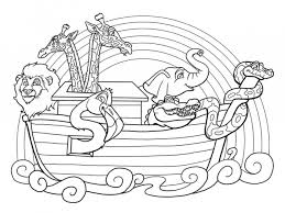 Download Coloring Pages Noahs Ark Page Noah And The To Print