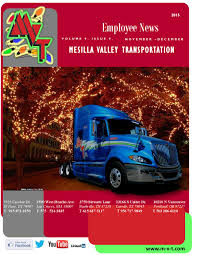 Mvt Newsletter Nov-Dec 2015 By MVT Services - Issuu Mesilla Valley Transportation Cdl Truck Driving Jobs Abilene Motor Express Truckers Review Pay Home Time Equipment Nm State Football On Twitter Thanks To Trucking For Mvt Mobile Apps Reviews Complaints Youtube Solutions Give Away 42000 In Fuel Efficiency Consulting And Testing Innometric Mpg Us Xpress Proves Reability Of The Tc10 Owner Perfect