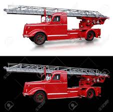 Old Red Italian Firetruck On Black And White - Italy Stock Photo ...