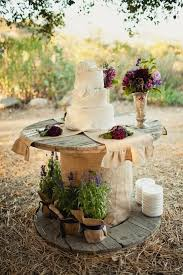 Rustic Outdoor Wedding Cake Display