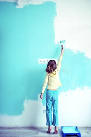 Download Child Painting The Wall Stock Image Of Paint Color