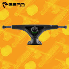 Bear Grizzly 180mm Black 52° Longboard Freeride Trucks - Sk8bites ...