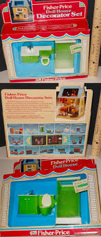 Accessories 2525: Rare Nib Vtg Fisher Price Doll House Bathroom ...