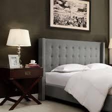 Skyline Grey Tufted Headboard by Skyline Furniture King Tufted Headboard In Linen Grey 793klnngr