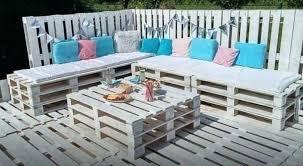 comment faire un canapé en canape exterieur en palette fabriquer un salon de jardin en palette