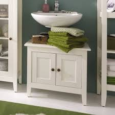 waschtischunterschrank erreys in weiß lasiert aus kiefer