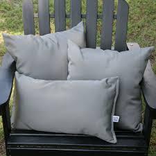 Patio Furniture Cushions Sunbrella by Charcoal Grey Sunbrella Outdoor Throw Pillow