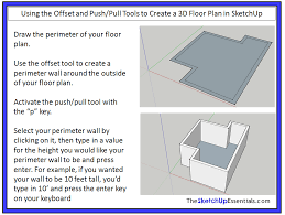using the push pull and offset tools in sketchup to create shapes