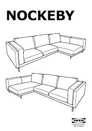 nockeby two seat sofa w chaise longue left risane white wood