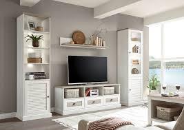 wohnwand anbauwand wohnzimmer colorado 4 teilig pinie weiß eiche antik