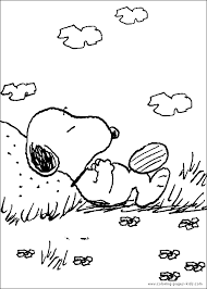 Snoopy Color Page Peanuts