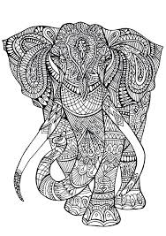 Full Image For Adult Coloring Pages Elephant Free Printable Adults Advanced Pdf