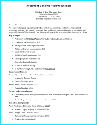 Investment Banking Resume Example Banker Sample Examples Of Skills And Free Builder