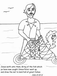 Peterfishing Bible Coloring Pages