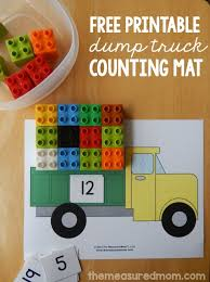 This Dump Truck Math Is A Great Counting Activity I Love Free Printables