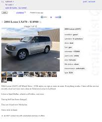 Craigslist - 2004 LX In TX W/~155k For $14,900 | IH8MUD Forum Craigslistevansville Brown Buick Gmc In Amarillo Plainview Canyon Dealer Craigslist Lubbock Cars By Owner Best Car 2017 Rolls Rite Trailers For Sale 26 Listings Page 1 Of 2 20 New Photo El Paso And Trucks Gallery Bobs Lot Ford F250 Super Duty For In Hereford Tx Whiteface Texas Carsjpcom