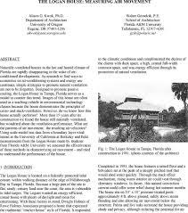 100 The Logan House THE LOGAN HOUSE MEASURING AIR MOVEMENT PDF