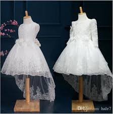 Best Quality New Autumn Winter Girls Dress Long Sleeve Lace Tail