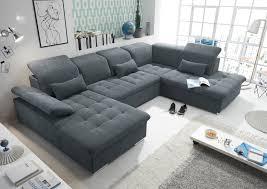 details zu wayne r sofa schlafcouch wohnlandschaft schlaffunktion anthrazit u form
