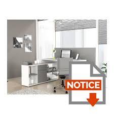 bureau d emploi finlandek bureau d angle työ classique blanc et gris l 140 cm