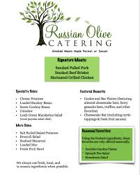 Catering Menu — The Russian Olive Catering Au Naturel Juice And Smoothie Bar Food Truck Menu Urbanspoonzomato The Green Truckmother Trucker Vegan Burger Dashafire You Crack Me Up Food Truck Offers Breakfast All Day The Buffalo News Atlanta Burger Staff Assembly Good Eats Lunch With Green Radish Story Mexican Bowl Toronto Trucks Hoggers Gourmet Kitchen Zomato Lime La Gringa Farm Brew Live Visual Menureviews By Blogginstagrammers