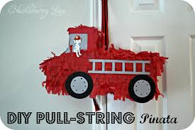 99 How To Draw A Fire Truck Step By Step Huckleberry Love DIY Pull String Piata
