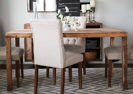 Wood Kitchen Table Plans Free by Ana White Emmerson Parsons Table Modern Reclaimed Wood Dining