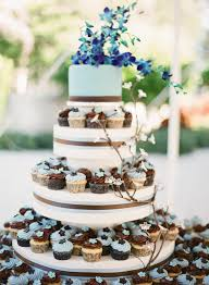 Wedding Cake With Cupcake Tier