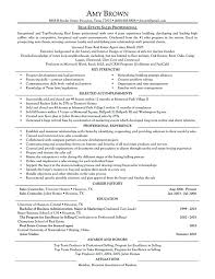 Realtor Resume Medium Size Of Examples Sample Real Estate Attorney Example Well Although Description