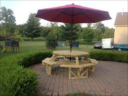 exteriors 8 seater picnic table round wooden picnic bench