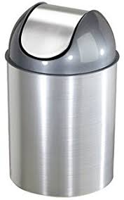 Bronze Bathroom Trash Can With Lid by Amazon Com Umbra Mezzo Swing Top Waste Can 2 5 Gallon 9 L