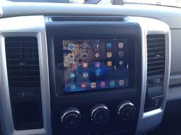 2009 Dodge Ram With IPad Mini Installed In Dashboard