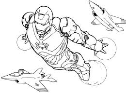 Iron Man Flying Coloring Pages Printable And Book To Print For Free Find More Online Kids Adults Of
